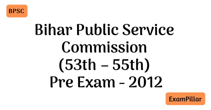 Bihar PCS 2012