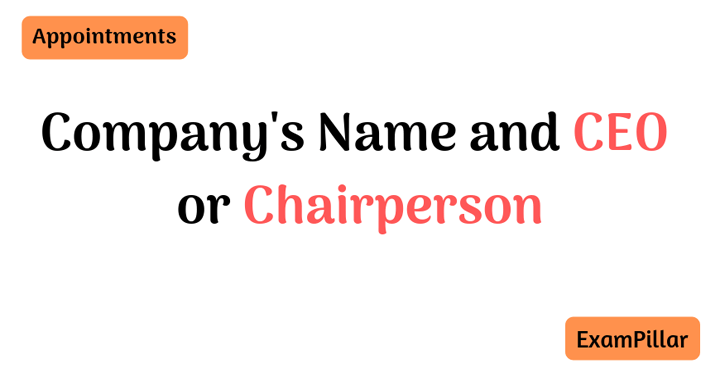 Company's Name and CEO or Chairperson