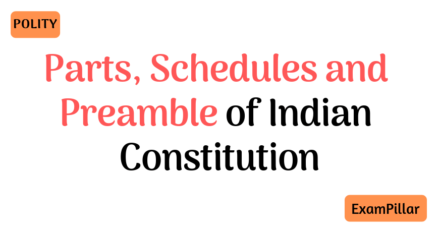Parts Schedules and Preamble of Indian Constitution