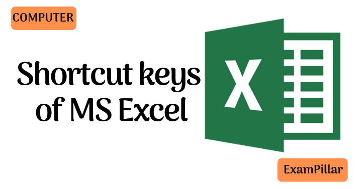 Shortcut keys of MS Excel