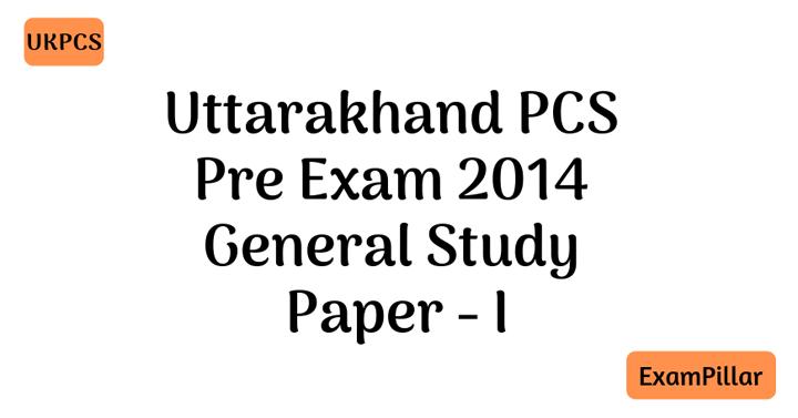 UKPCS Pre Exam 2014 Paper - I
