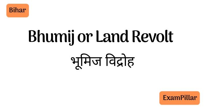 Bhumij or Land Revolt