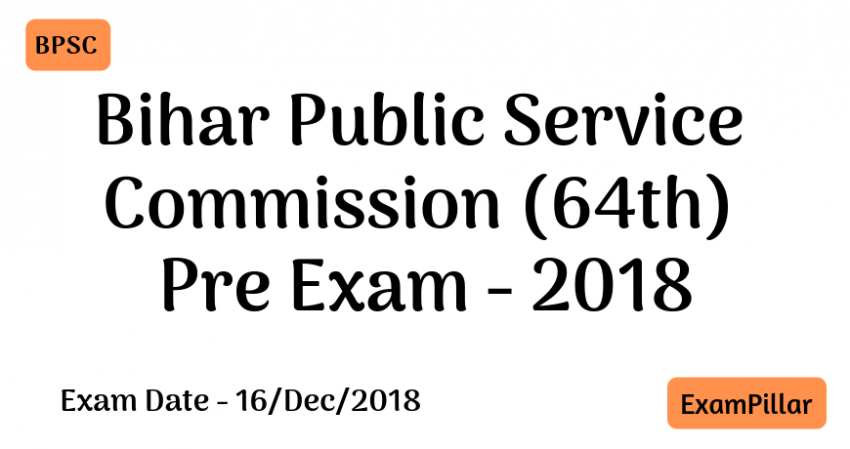 Bihar PCS 64th Pre Exam 2018 AnswerKey