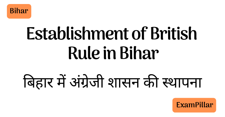 Establishment of British Rule in Bihar