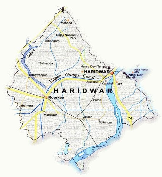 Haridwar Map