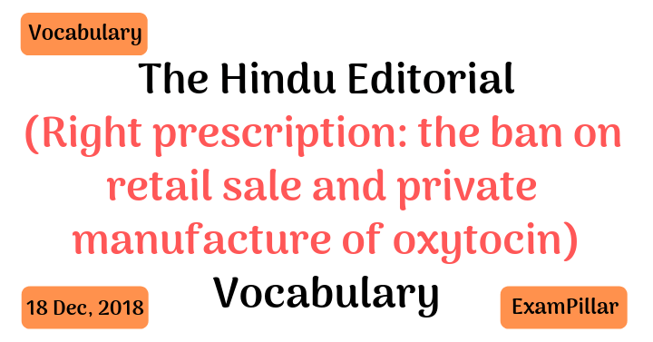 The Hindu Editorial Vocab 18 Dec, 2018