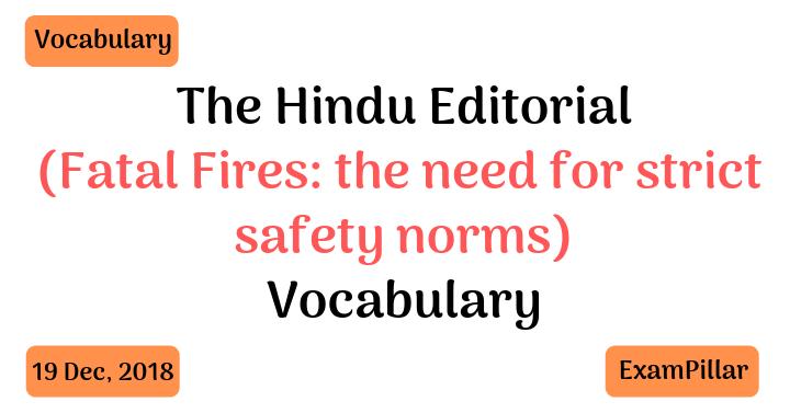 The Hindu Editorial Vocab 19 Dec, 2018