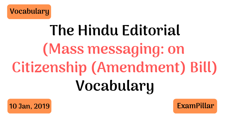 The Hindu Editorial Vocab
