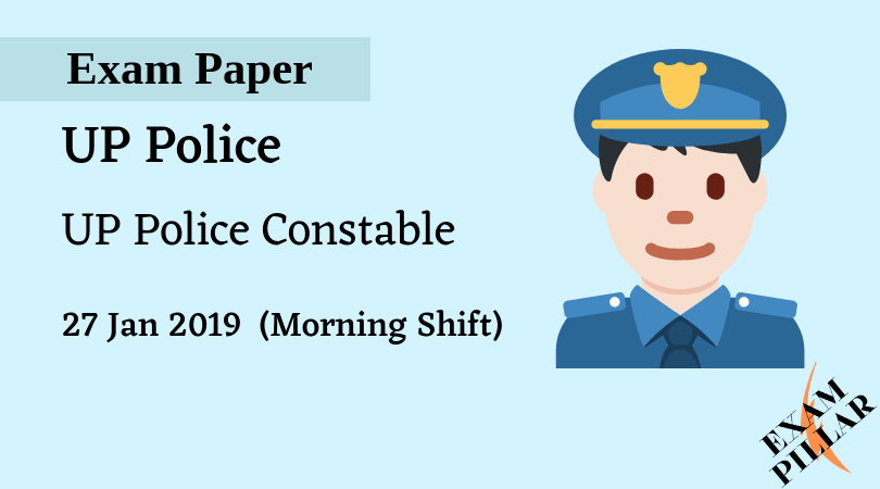 UP Police Constable Exam 27 Jan 2019 AnswerKey