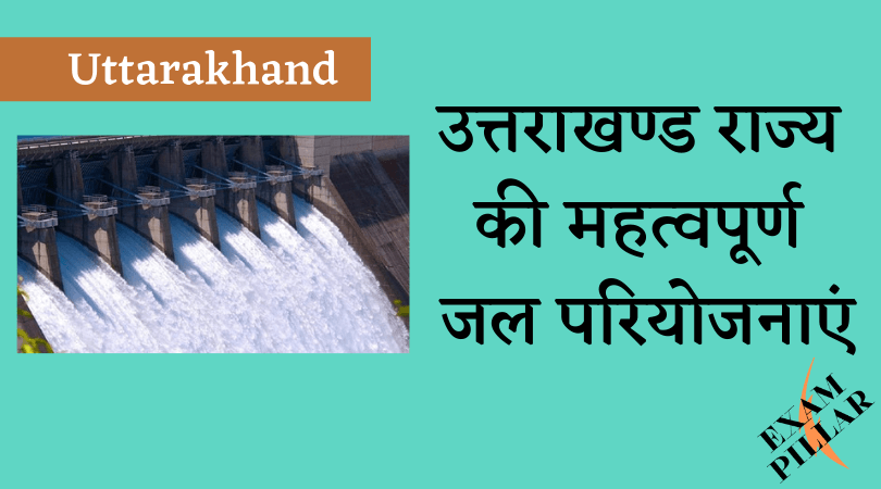 Important Water Projects in Uttarakhand State
