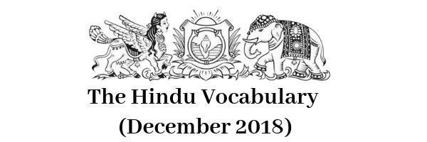 The Hindu Vocabulary