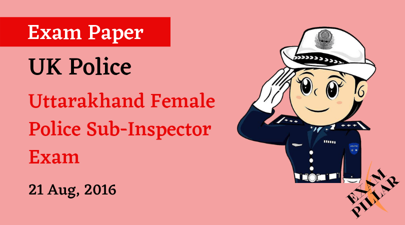 UK Female Police SI Exam Paper 2015