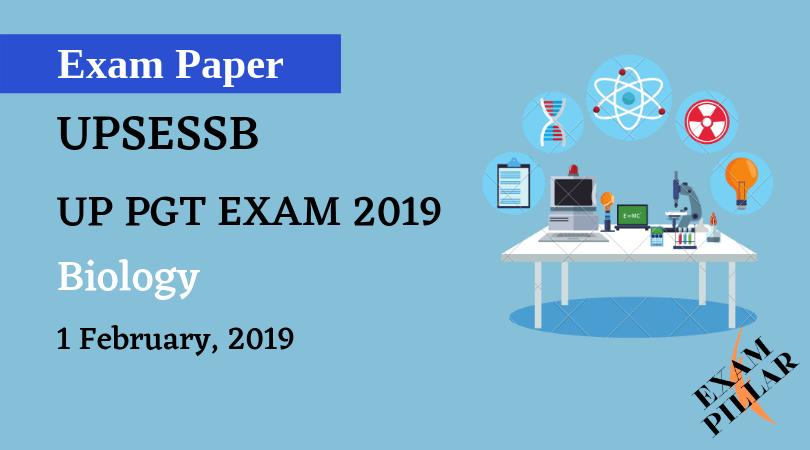 UP PGT EXAM 2019 - Biology Answer key