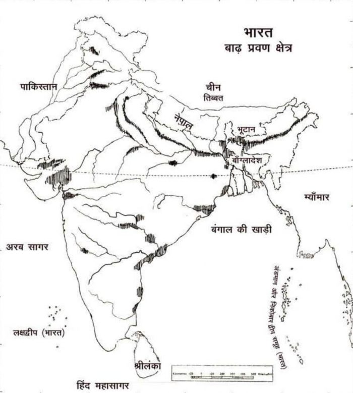 Flooding Area in India