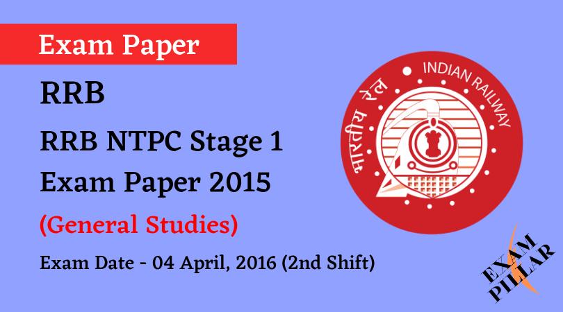 RRB NTPC 2015 Exam