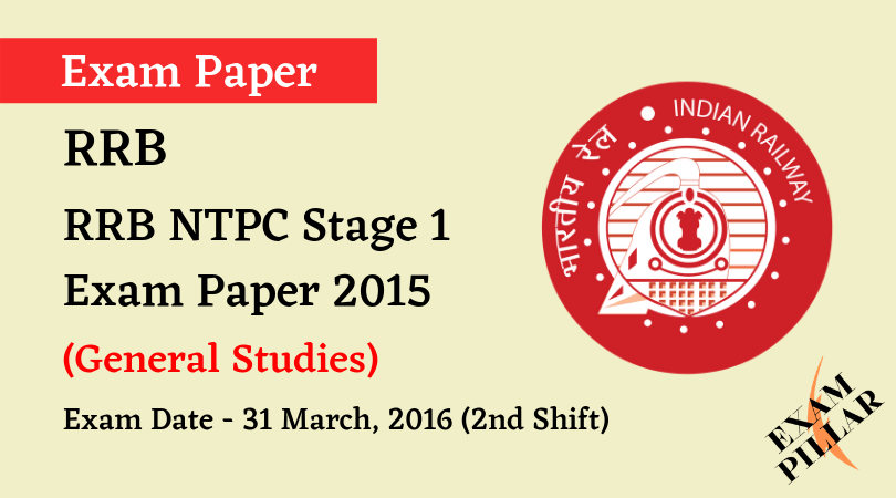 RRB NTPC Stage 1 Exam Paper -