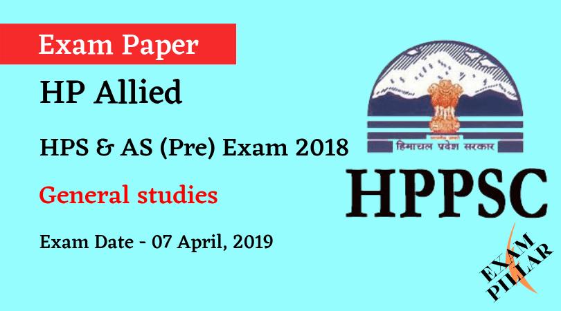 Himachal Pradesh HPS & AS (Pre) Exam 2019 (Answer Key)