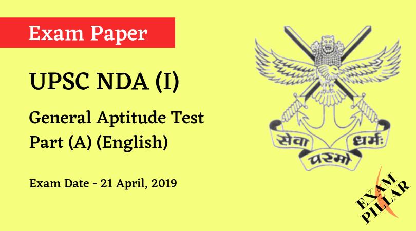 NDA 2019 Answer Key