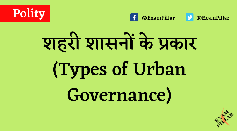 Types of Urban Governance