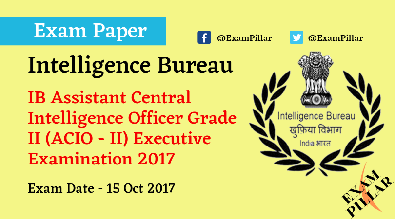 IB ACIO-II 2017 Exam Paper
