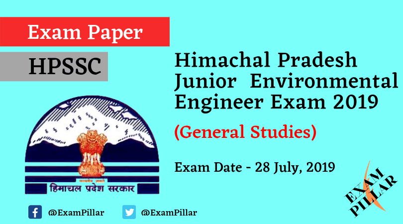 Himachal Pradesh Junior Environmental Engineer Question Paper 2019 (With Answer Key)