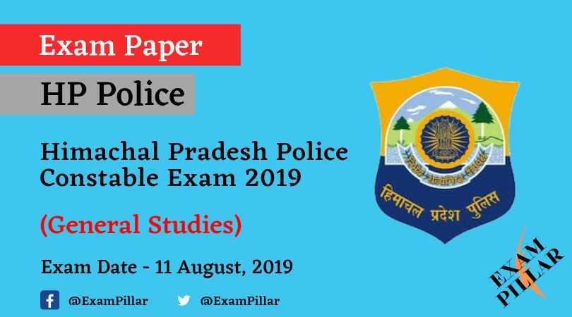 Himachal Pradesh Police Constable Exam 2019 (Answer Key)