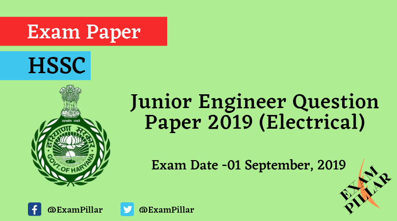 Haryana SSC JE (Electrical) Question Paper 2019 (Answer Key)