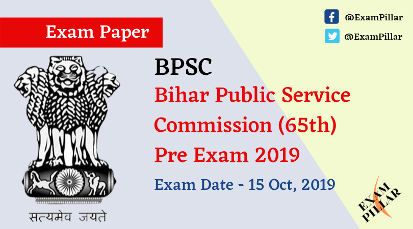 BPCS 65th Pre Exam 2019 Answer Key