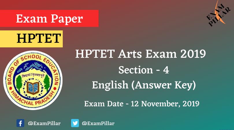 HPTET Arts Exam 2019 (Answer Key)