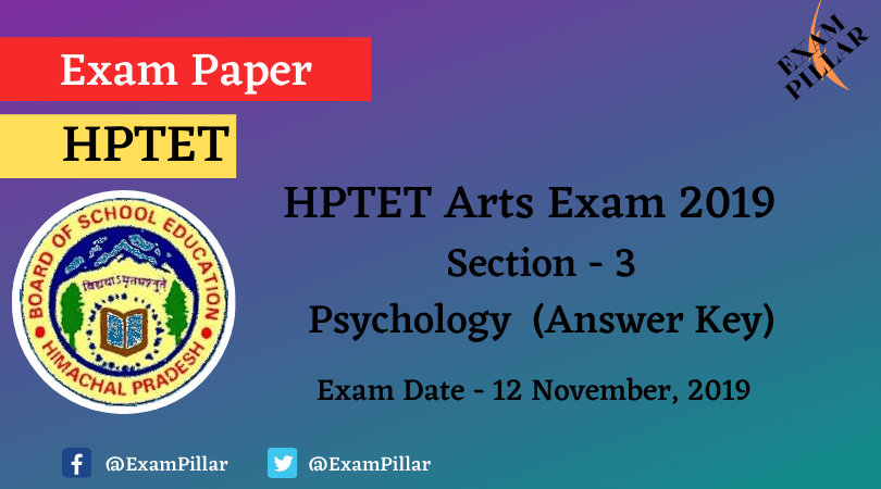 HPTET Arts Exam 2019 (Answer Key)
