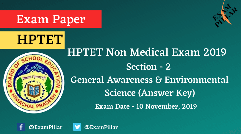 HPTET Non Medical Exam 2019 (Answer Key)