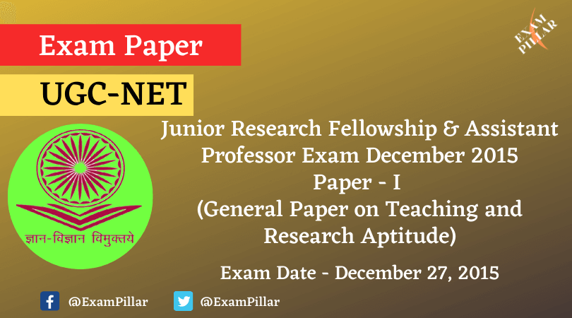 UGC NET PAPER 1 Dec 2015 Answer Key