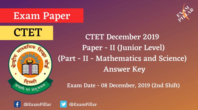 CTET Dec 2019 Paper II Answer Key