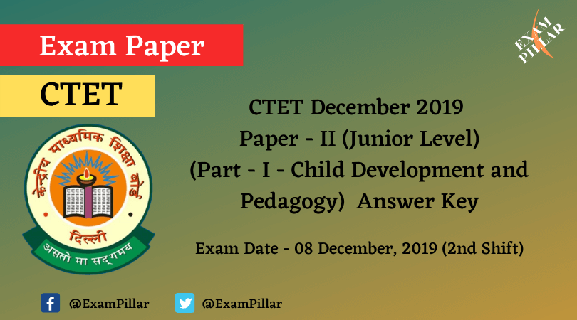 CTET Dec 2019 Paper II Answer Key