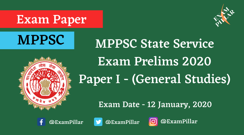 MPPSC Pre Exam 2020 General Studies Paper I Answer Key