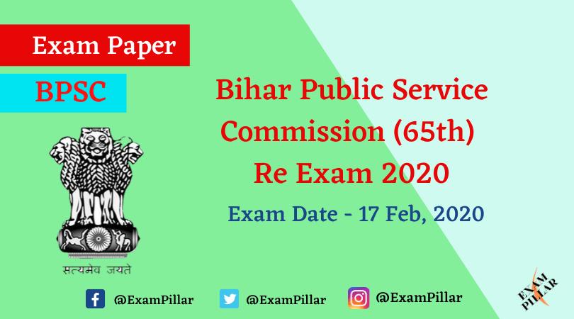 BPCS 65th Pre Re-Exam 2020 Answer Key