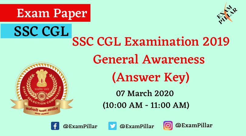 SSC CGL Tire I Answer Key 2020