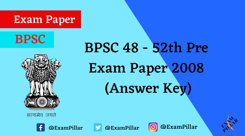 BPSC Answer Key
