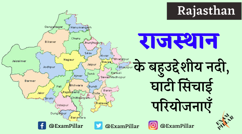 Multipurpose River, Valley Irrigation Projects of Rajasthan