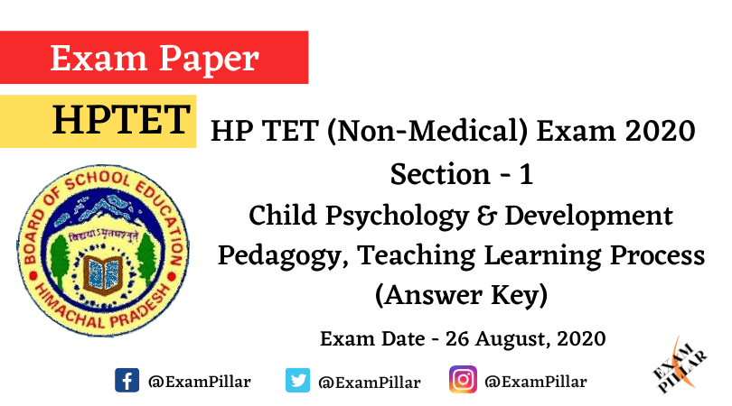 HPTET (Non Medical) Exam 2020 - CPD (Answer Key)