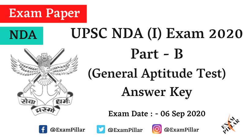 UPSC NDA (I) Exam 2020 Answer Key