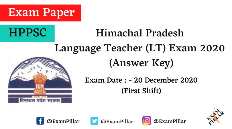 HP Language Teacher (LT) 2020 Official Answer Key