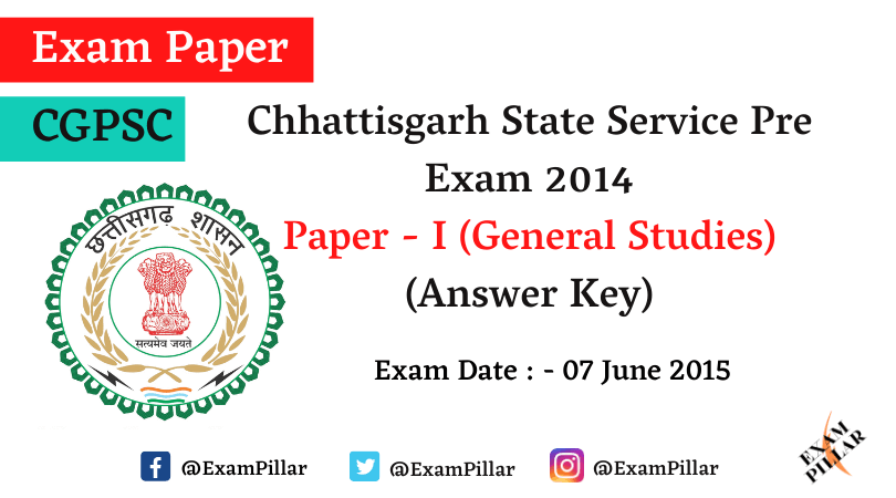 Chhattisgarh PCS Pre Exam 2014 Answer Key