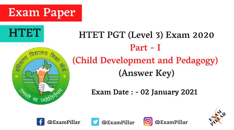 HTET PGT Answer Key 2021