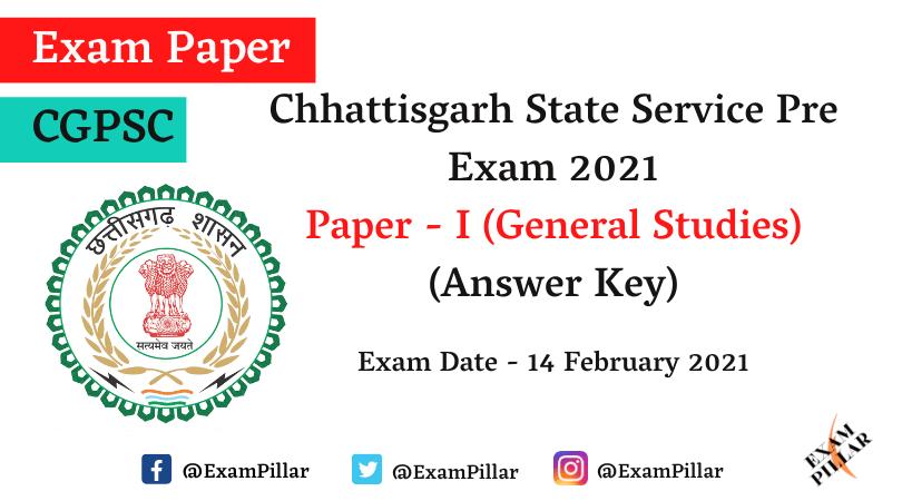 Chhattisgarh PCS Pre Exam 2021 Answer Key