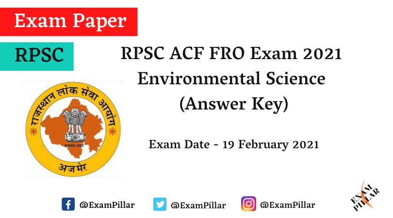 RPSC ACF FRO Environmental Science Answer Key