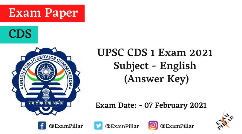 UPSC CDS 2021 Answer Key
