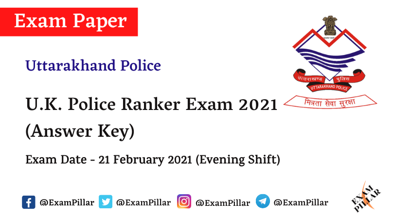 Uttarakhand Police Ranker Answer Key