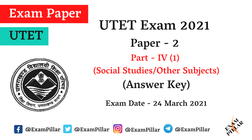UTET 2021 Paper 2 Answer Key