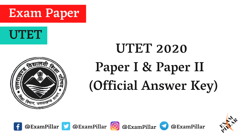 UTET 2021 Official Answer Key